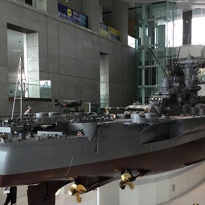 Yamato scale model on display