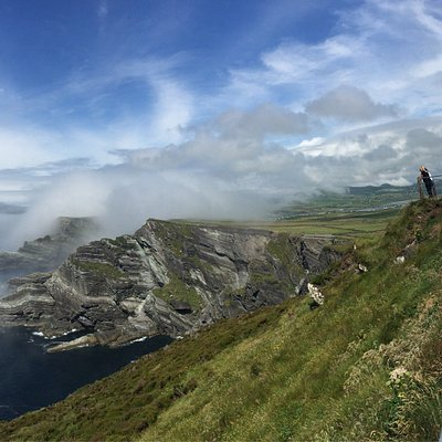Kerry cliffs in Portmagee on The Sceilig Ring with for for effect.
