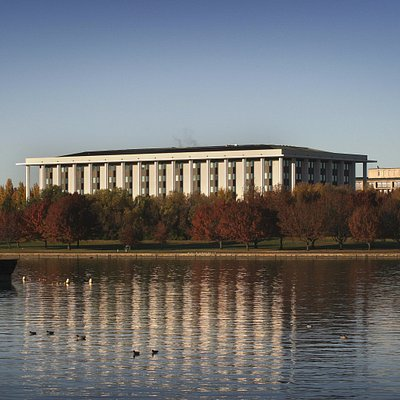 National Library of Australia viewed from Lake Burley Griffin