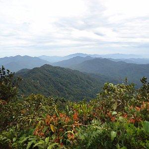 view from the peak of Gunung Besar Hantu