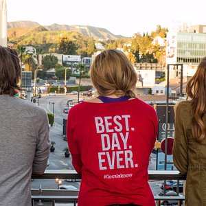 Getting a view of the Hollywood sign.