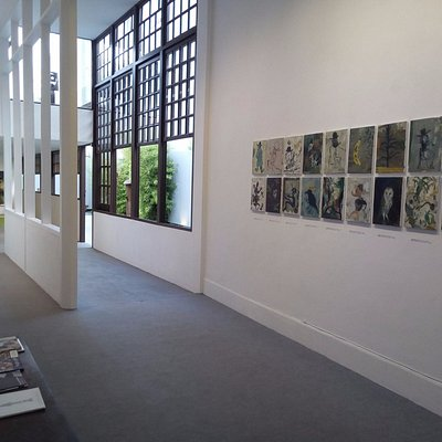 Interior de la Galería de arte García de Diego. Los Llanos de Aridane.