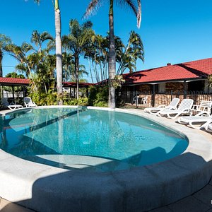 The Outdoor Pool at the Hervey Bay Colonial Lodge