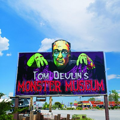 Tom Devlin's Frankenhead on the sign out front!