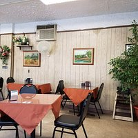 Simple comfy interior dining room!
