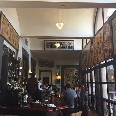 We go to typical local restaurants, cafes and bars like this one.