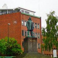 Roald Amundsen Monument, taken on 10 July 2016 in Tromso, Norway