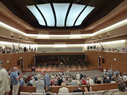 Der wunderschöne Konzertsaal des Musikforums in Bochum