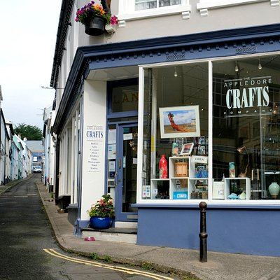 Outside of Appledore Crafts Company, Bude Street