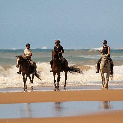 Beach ride with Bhangazi Horse Safaris