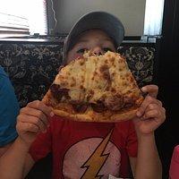 Giant slice of pizza