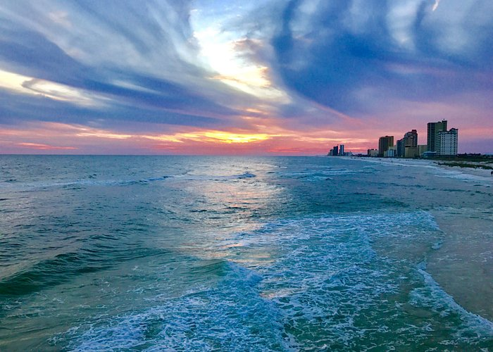 Amazing sunsets at Gulf State Park Fishing and Education Pier