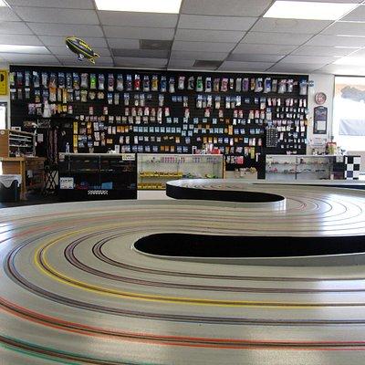 Inside the raceway