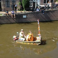 The Muziekboot (Musicboat) shows up unexpectedly around town on the various canals.