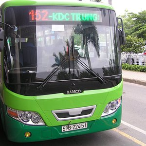 airport  - city bus turn right outside arrivals and cross road