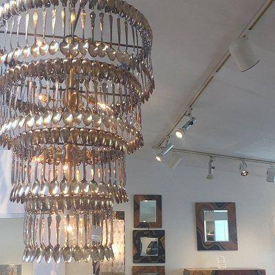 Coolest spoon chandelier