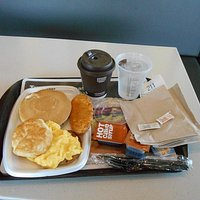 Big Breakfast with coffee and water