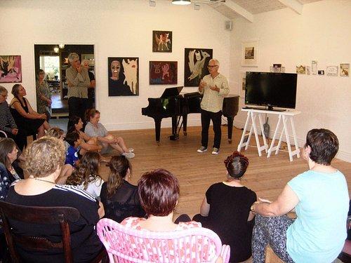 An artists talk