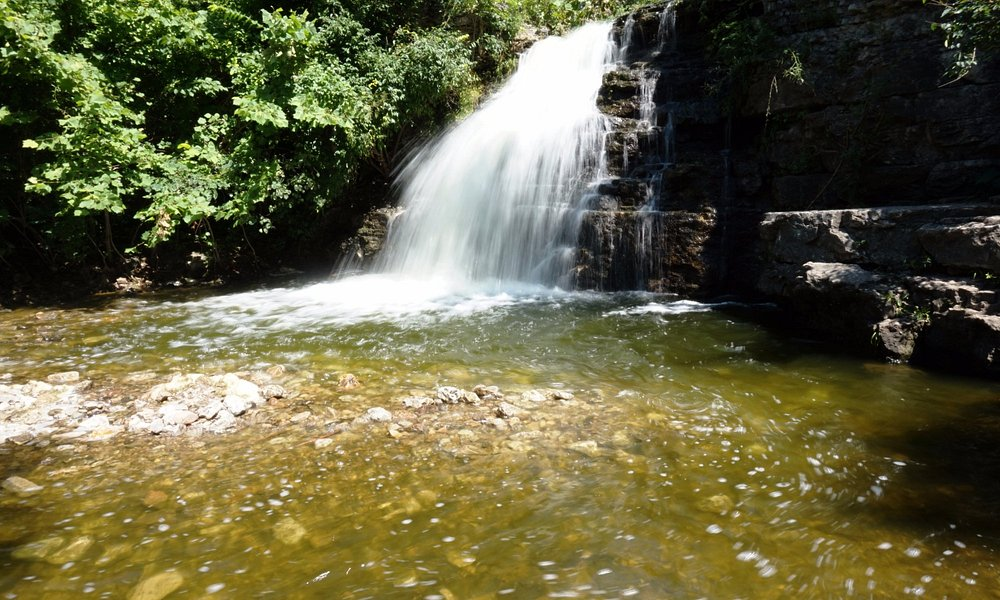 The waterfall. Beware of snakes!