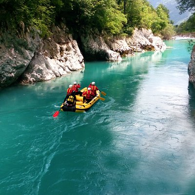 White Water Rafting on Emerald river, Slovenia