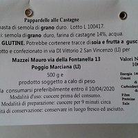 etichetta delle pappardelle