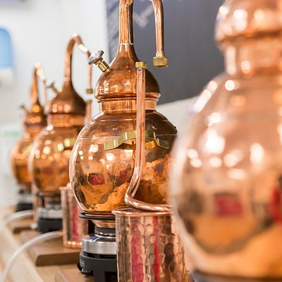 Mini Stills at Adnams 'Make Your Own Gin' Experience - Bury St Edmunds