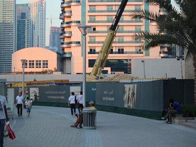 walking on the Marina