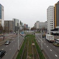 Good view of Rotterdam from Luchtsingel
