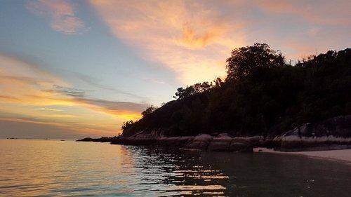 Sun set @Pagadoran Island. Gorgeous!