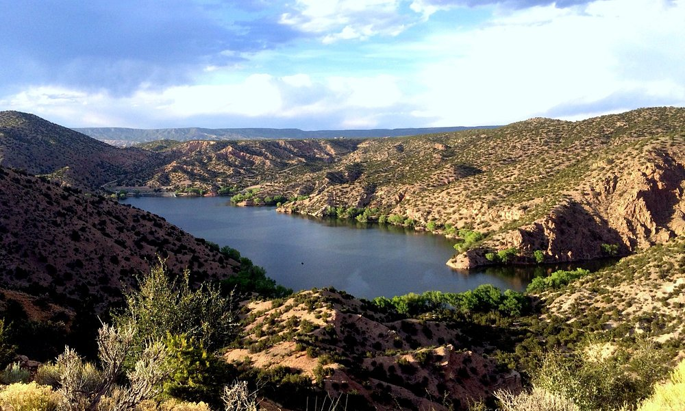 View of Santa Cruz Lake from the upper campground.