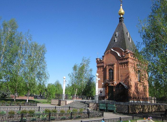Успенский храм-часовня на кладбище Старого Оскола