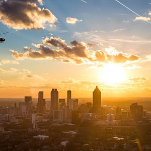 Watch the sunset from the sky, with Atlanta Helicopters