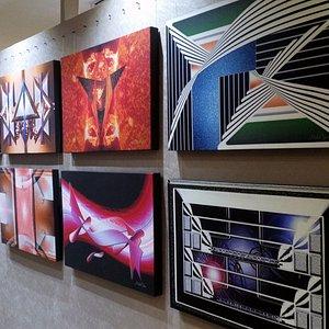digital-rendered artworks printed on canvas