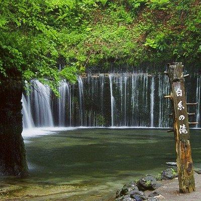 車がないと行きにくい白糸の滝などもライドシェアで効率良く周遊できます!