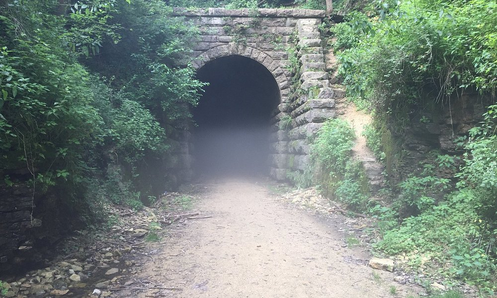 The exit of the tunnel