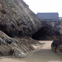 Long view of hidden cave
