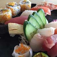 Sashimi, Sushi and Tempura set meal