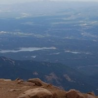 Catamount Lake area from Pikes Peak Summit