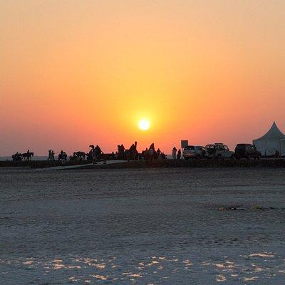 White Desert Looks Awesome During Sunset.