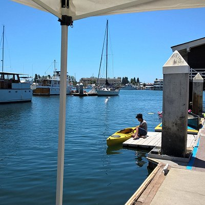 The dock at California Canoe & Kayak
