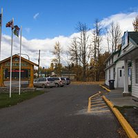 The Burns Lake Visitor Centre is located in the historic Forestry Ranger Warehouse building.