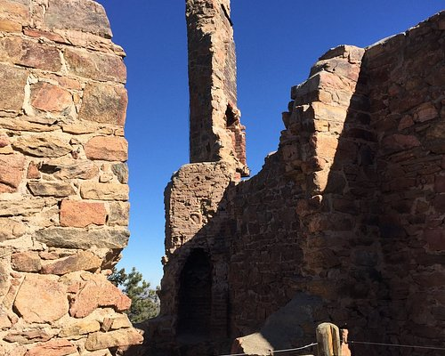 An old chimney in the castle ruins