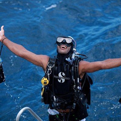 Happy diver!