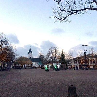 Stortorget en kylig dag i november. Foto: Lina Hiltunen, Ängelholms Näringsliv.