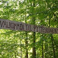 Välkomstskylt till Pytteskogen. Foto: Ängelholms Näringsliv,