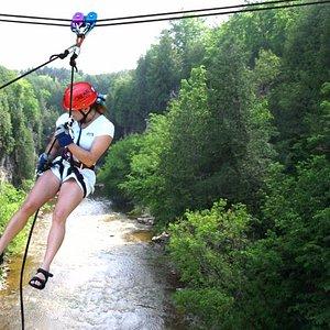 Zipline extreme is a program unique to Elora, Ontario!