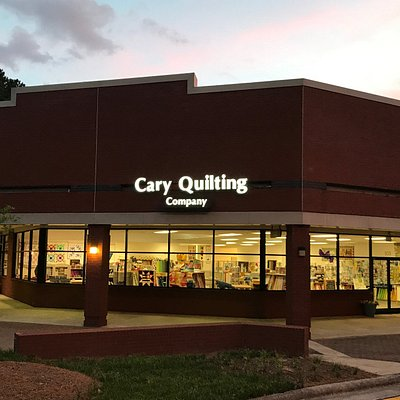 Cary Quilting Company in the evening.  We love our new location, 935 N Harrison Ave.