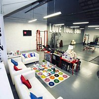 Reception before the recent re-org. Has even more fitness equipment in it now.