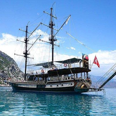 Çıralı Korsan Teknesi Olympos Antalya Günlük Tekne Turları