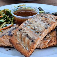 Grilled Salmon with sides
